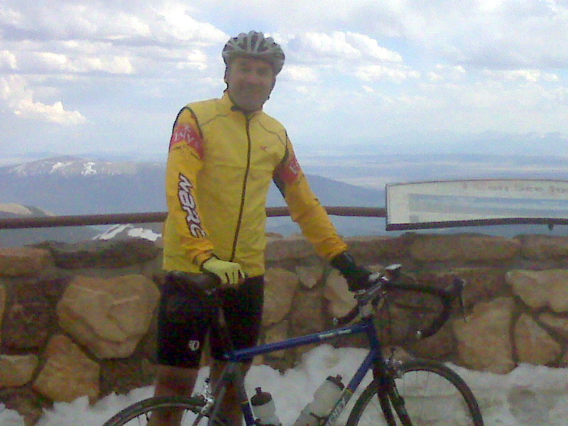 Chris at the peak of Mt. Evans, CO, 14,200ft