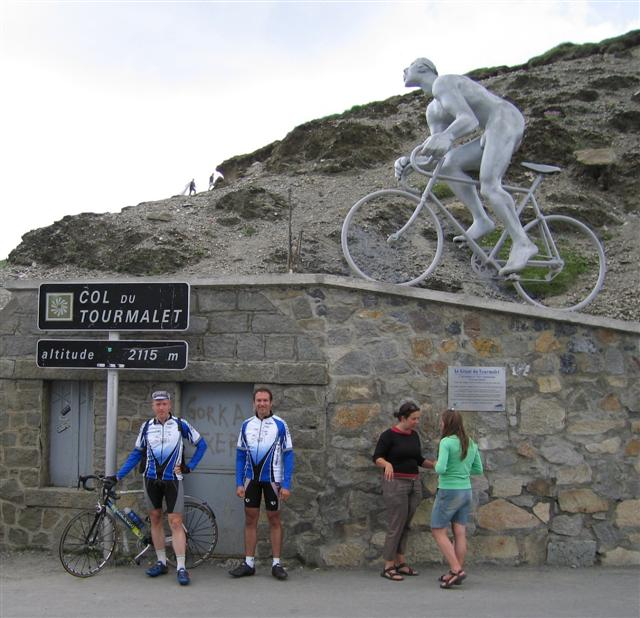 Col du Tourmalet, France, Chris & Roger